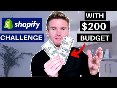 Day1) SHOPIFY CHALLENGE ON $200 BUDGET! NEW STORE FROM