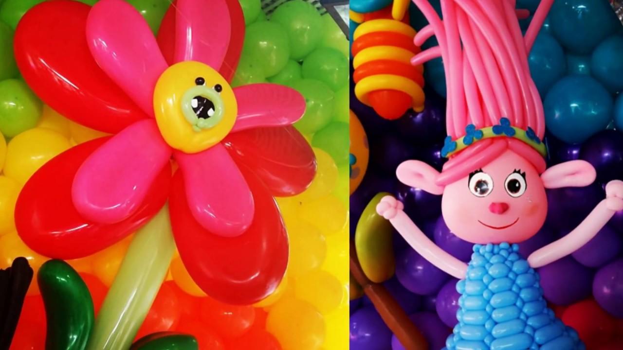 Exposicion Fiesta y Mama, ideas con globos para tus decoraciones