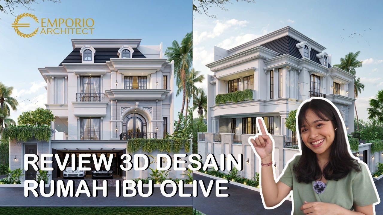 Video 3D Desain Rumah Hook Mediteran 3.5 Lantai Ibu Olive di Jakarta Selatan