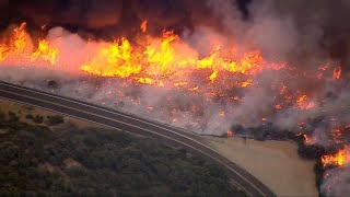 Six wildfires rage in Southern California