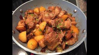 Easy marinated pork Adobo (Filipinos Adobong baboy)