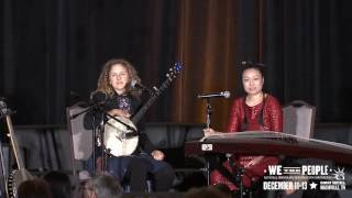 Abigail Washburn and Wu Fei at the National Immigrant Integration Conference