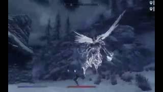 Angel in combat Skyrim gameplay