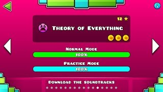 Geometry Dash - Level 12:Theory Of Everything (All Coins)