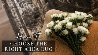 How to Choose the Right Area Rug for Every Room in Your Home   Size, Texture, & Color   Julie Khuu