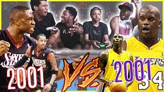 THE 01' LAKERS VS THE 01' SIXERS BIG MAN CHALLENGE!! - NBA 2K17 Gameplay