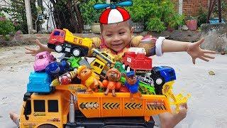 Trò Chơi Siêu Nhân Nhí Iron Man Baby Đi Săn Xe Con Và Học Tên Các Loại Xe Đồ Chơi Bài Hát Thiếu Nhi