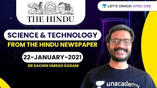 Science and Technology from The Hindu Newspaper | 22-January-2021 | Crack UPSC CSE/IAS | Sachin Sir