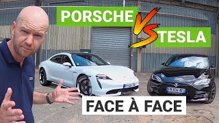 PORSCHE Taycan TURBO vs. TESLA Model S performance : un duel électrique !