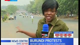 Burundi national party protest over UNCHR report