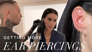 Getting MORE Custom Ear Piercings (during NYFW) // Brittany Xavier