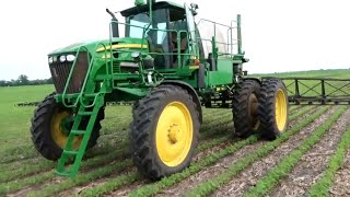 Spraying Soybeans and Digging