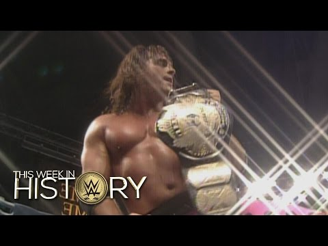 Bret Hart's first WWE Championship win against Ric Flair: This Week in WWE History, October 15, 2015