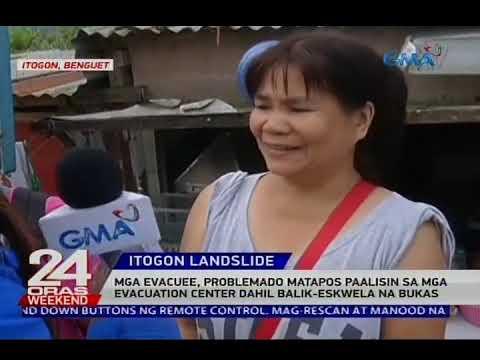 [GMA]  Mga evacuee, problemado matapos paalisin sa mga evacuation center dahil balik-eskwela na bukas