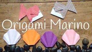 ANIMALES MARINOS de papel | Origami fácil para niños