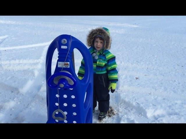 Видео Санки детские KHW SNOW SHUTTLE DE LUXE красный