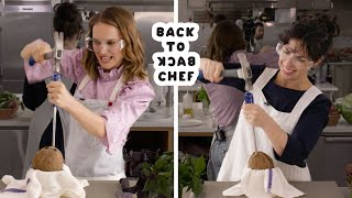 Natalie Portman Tries to Keep Up With a Professional Chef | Back-to-Back Chef | Bon Appétit - dooclip.me