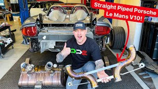 INSANE STRAIGHT PIPED $1,000,000 PORSCHE CARRERA GT!  * V10 Le Mans Engine*