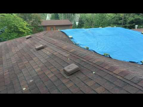 This was a 10 year old roofing shingle installed in New Lennox, IL.  The shingle is failing as you can see in the discoloration, but it is also sliding off of the roof.  This is happening due to improper installation.  At Stan's our crews are certified installers of all the products we use.  You can most certainly count on our teams to give you the very best.