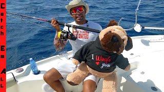 FISHING with a TEDDY BEAR! **Shark Week**