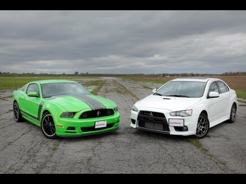 Ford Mustang Boss 302 vs Mitsubishi Lancer Evolution MR