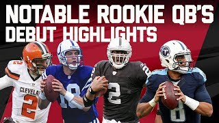 Best & Worst Plays from Notable Rookie Quarterback's NFL Debut's | Eternal Redzone | NFL Highlights