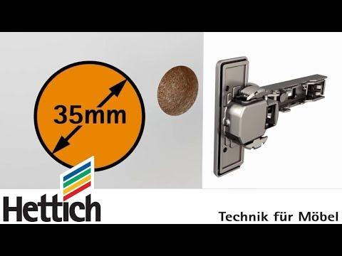 Diamètre des charnières à boîtier, Hettich pour les bricoleurs