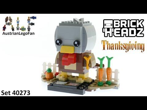 Vidéo LEGO BrickHeadz 40273 : La dinde de Thanksgiving