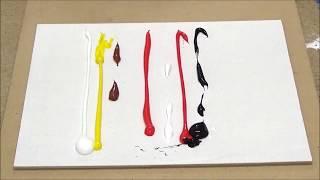 Pintura abstracta figurativa / barco abstracto 07 /espátula  / acrílicos