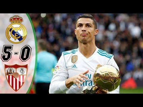 Real Madrid vs Sevilla 5-0 [HD] All Goals   COPE   Liga 2017/2018