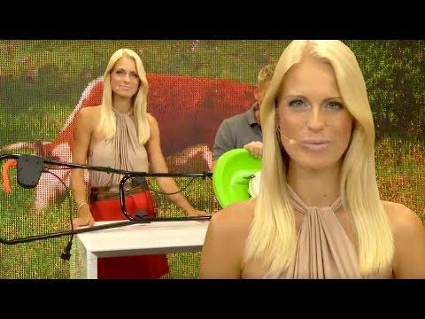 Rasenmähen in High-Heels mit Anne-Kathrin Kosch! Luftkissenrasenmäher im Test