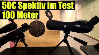 50€ Spektiv im Test auf 100 Meter, Bresser 20 60x60