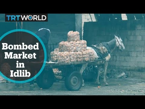 The War in Syria: Shop owners of bombed market in Idlib struggle to survive