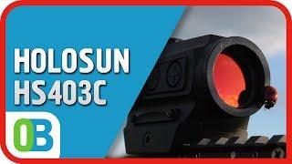 Коллиматорный прицел Holosun Paralow HS403C Weaver солн. бат.+ крон., 2MOA, 12 Подсв. (+NV), бат. лоток, 124гр. от компании Охотнику и стрелку! - видео