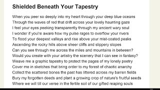 Shielded Beneath Your Tapestry
