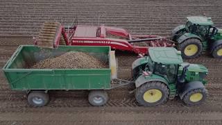 Rohschnitt 7 John Deere Und 4 Grimme Kartoffel Maschinen Kartoffeln Roden Und Einlagern