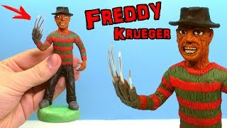 ЛЕПИМ ФРЕДДИ КРЮГЕРА ИЗ ПЛАСТИЛИНА | Freddy Krueger out of clay Tutorial