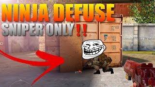 Standoff 2 PRO Sniper Only Ninja Defuse on Rust‼️