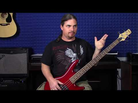 Late beginner/early intermediate bass lesson
