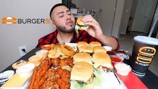 BurgerIM • MUKBANG  Burgers, Onion Rings & Wings