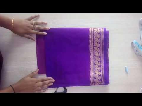 d265a5655480e Paithani saree blouse back neck design cutting   stitching