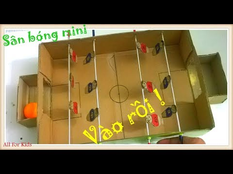 Làm Sân Bóng Đồ Chơi Mini - How To Make A Football Table