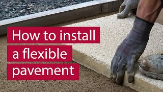 How to Install Concrete Flag/Block Paving Flexibly | Commercial Paving | Marshalls