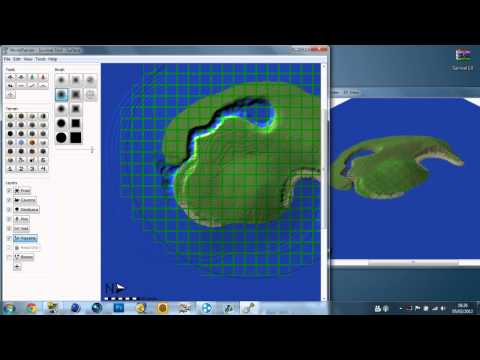 how to make a survival island world painter world edit