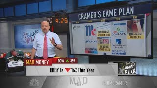 Cramer's game plan for corporate earnings reports for week of Sept. 28