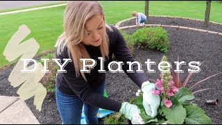 DIY OUTDOOR PLANTERS FOR BEGINNERS   SPRING FLOWER INSPIRATION   VLOG #20   The Konfederats
