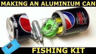 Making a soda can fishing kit