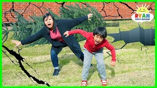 What Is An Earthquake? | Educational Video for kids with Ryan ToysReview !!! Let's learn all about earthquakes and the different kinds of it, and what causes an earthquake??? Fun educational learning video for children!