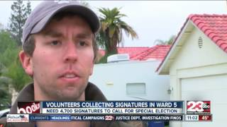 Volunteers seek signatures for city council special election