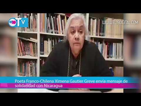 Poeta Franco-Chilena Ximena Gautier Greve envía mensaje de solidaridad con Nicaragua